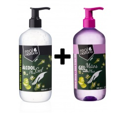 Álcool Gel Tea Tree Oil  500ML + Gel de Lavagem Mãos Plus 500ML