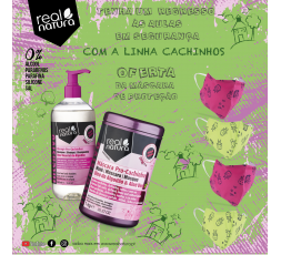 KIT CACHINHOS (OFERTA: MÁSCARA DE PROTEÇÃO INFANTIL - ROSA)